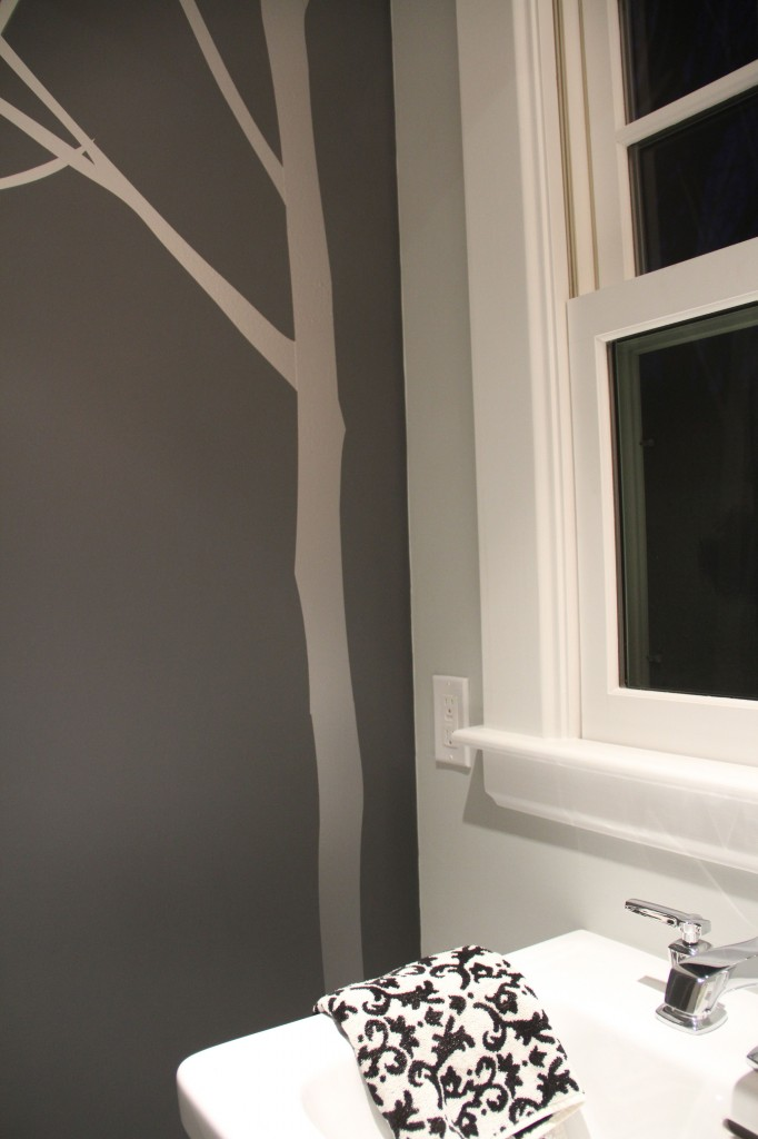 After: right side of wall.