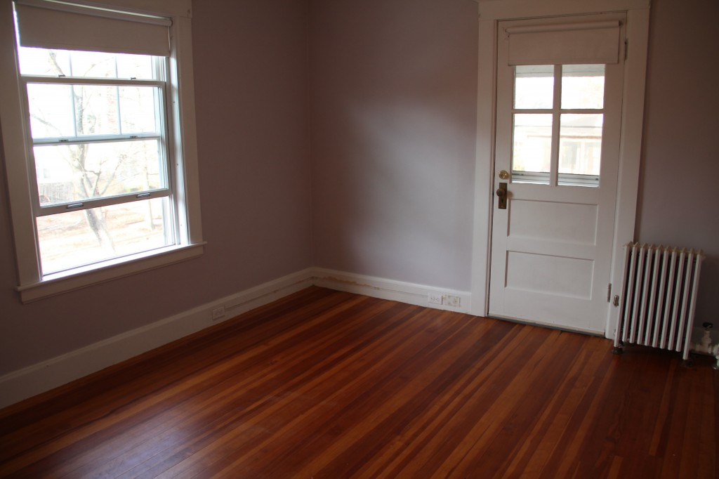 We vacuumed and washed everything: the walls, windows, trim, floors. Ahhhhh.