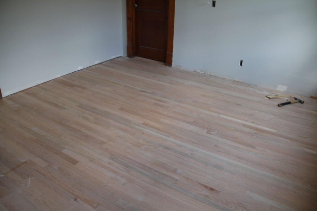 Naked nudie floors. Their last hurrah before getting sanded to newborn smooth.