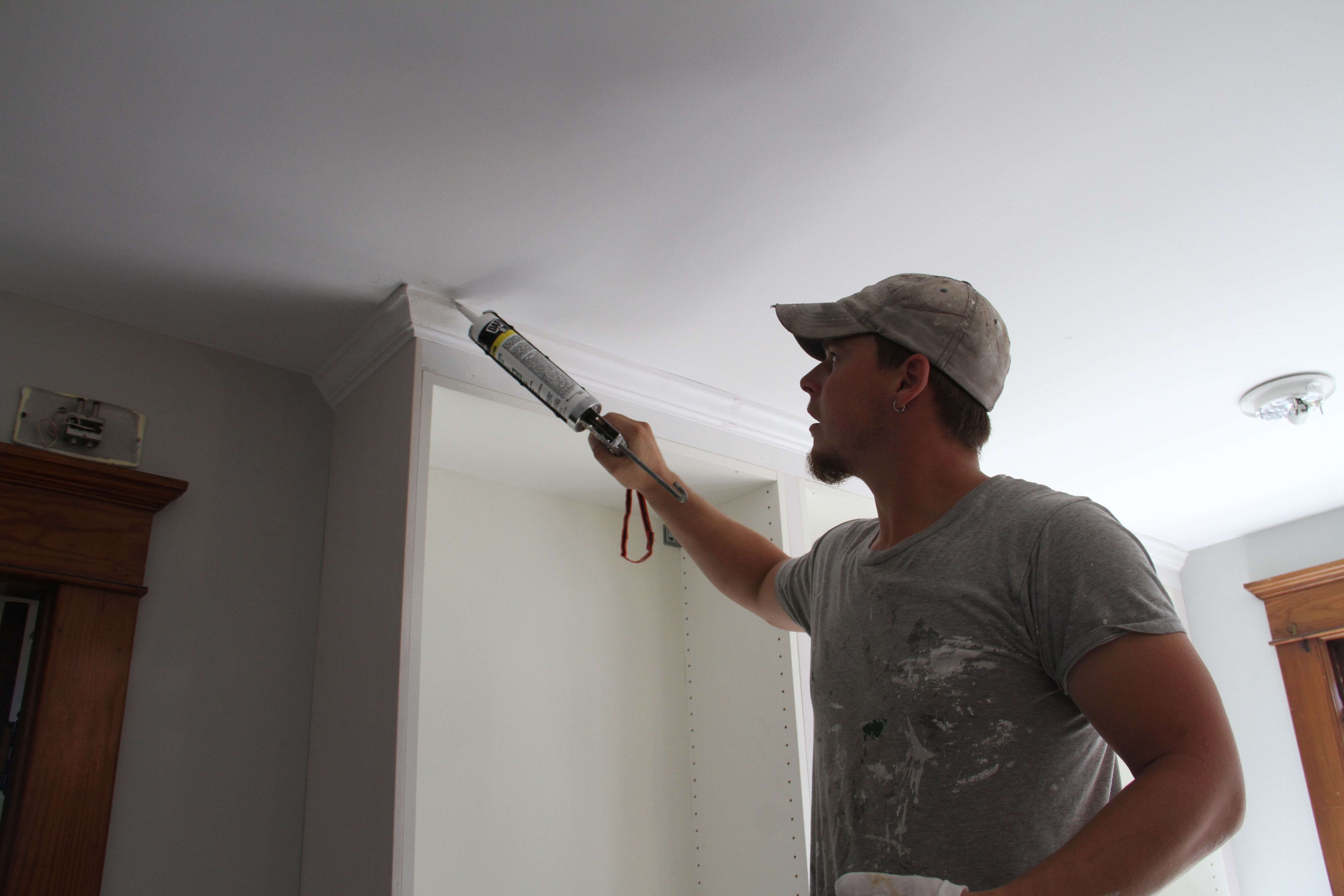 Brian rocking out with his caulking out. (Did I just go too far?)