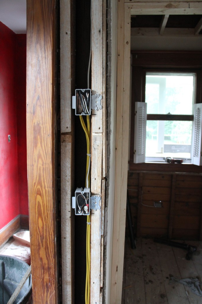 Light switch and thermostat for new heating zone.