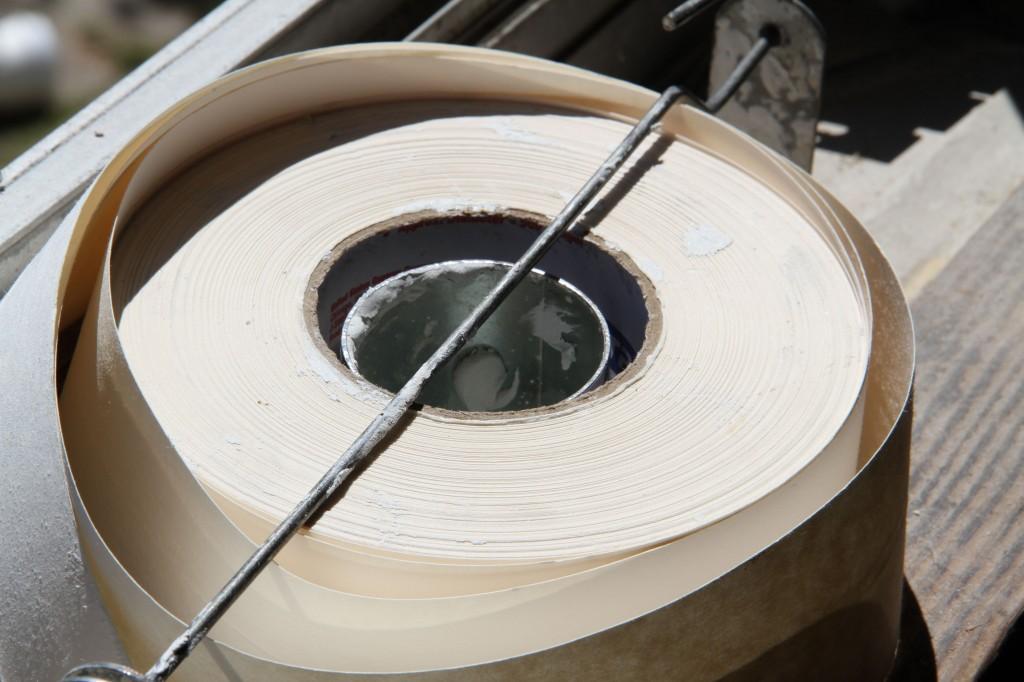 Beauty shot: drywall tape.