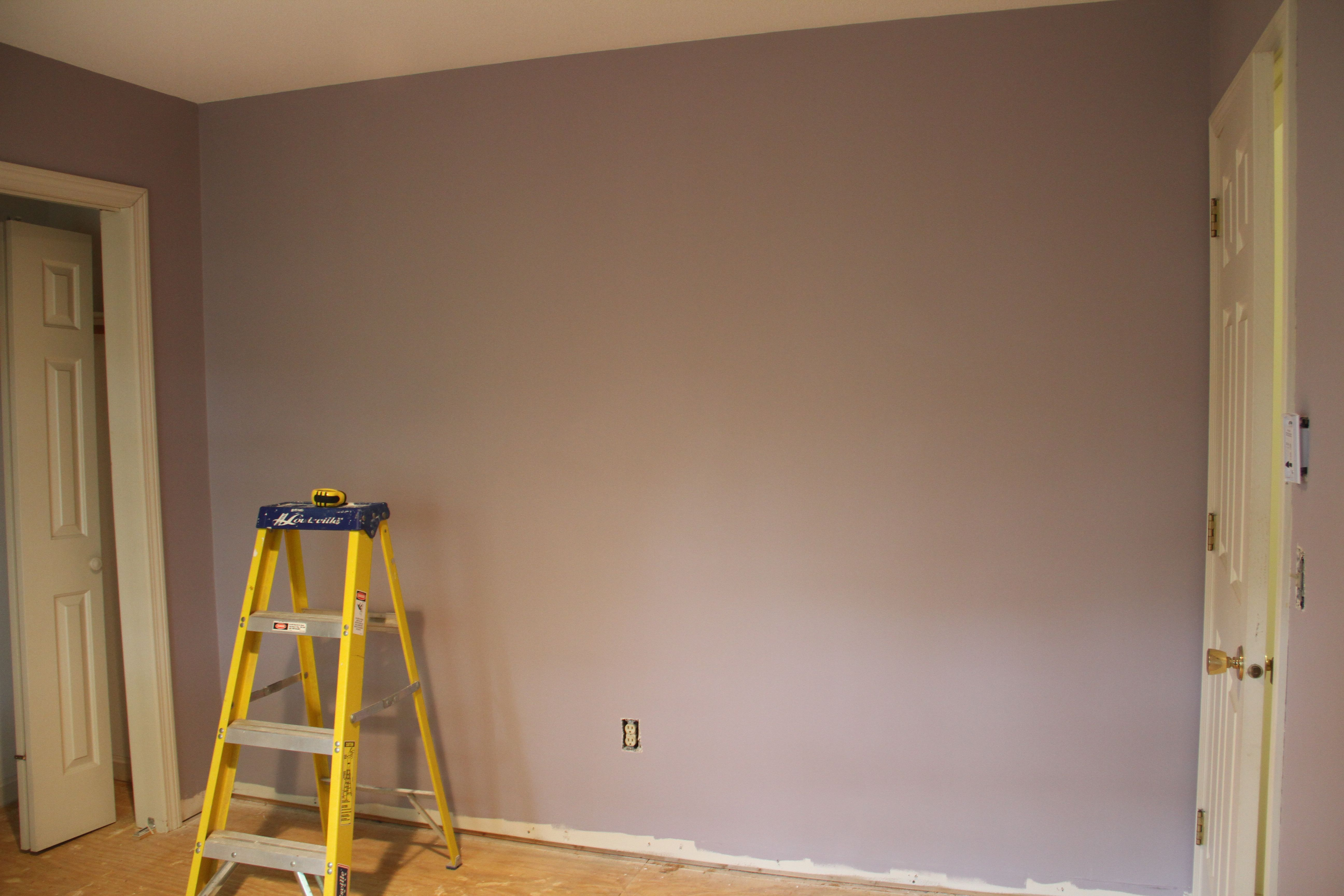 Mom's bedroom color: Sanctuary, before stencil. (All colors are Benjamin Moore, Aura, in case you're inspired.)
