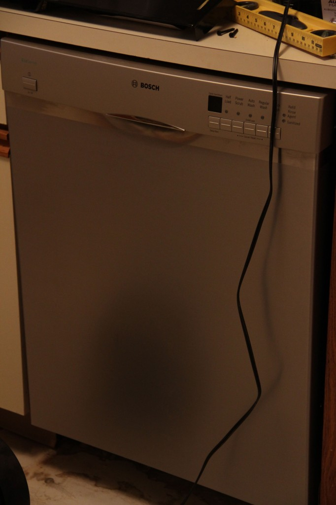 Jeff installed the dishwasher. I think this is the third or fourth one he's done. He's quite versatile.
