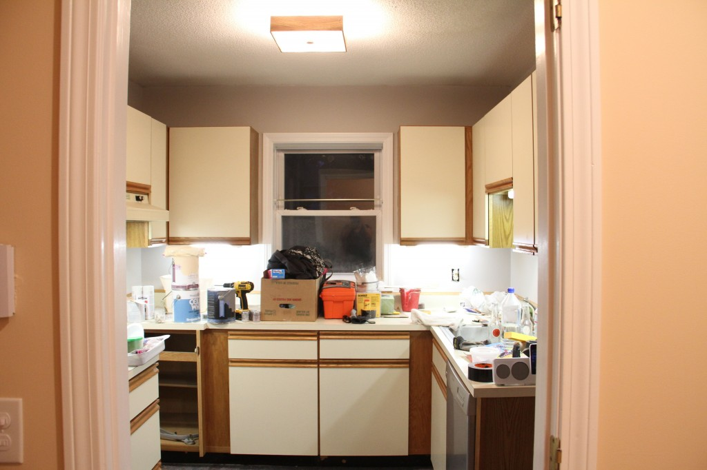 BAM! Just look at what a difference the undercabinet lighting makes!