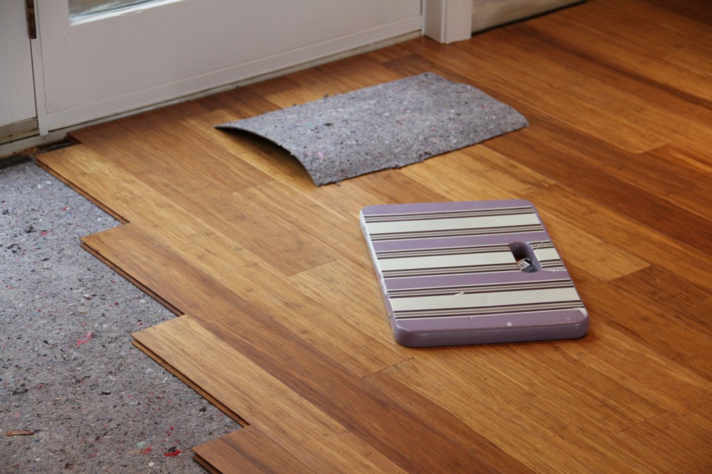 Stair stepping down the flooring helped them work fast and simultaneously. Isn't it pretty?