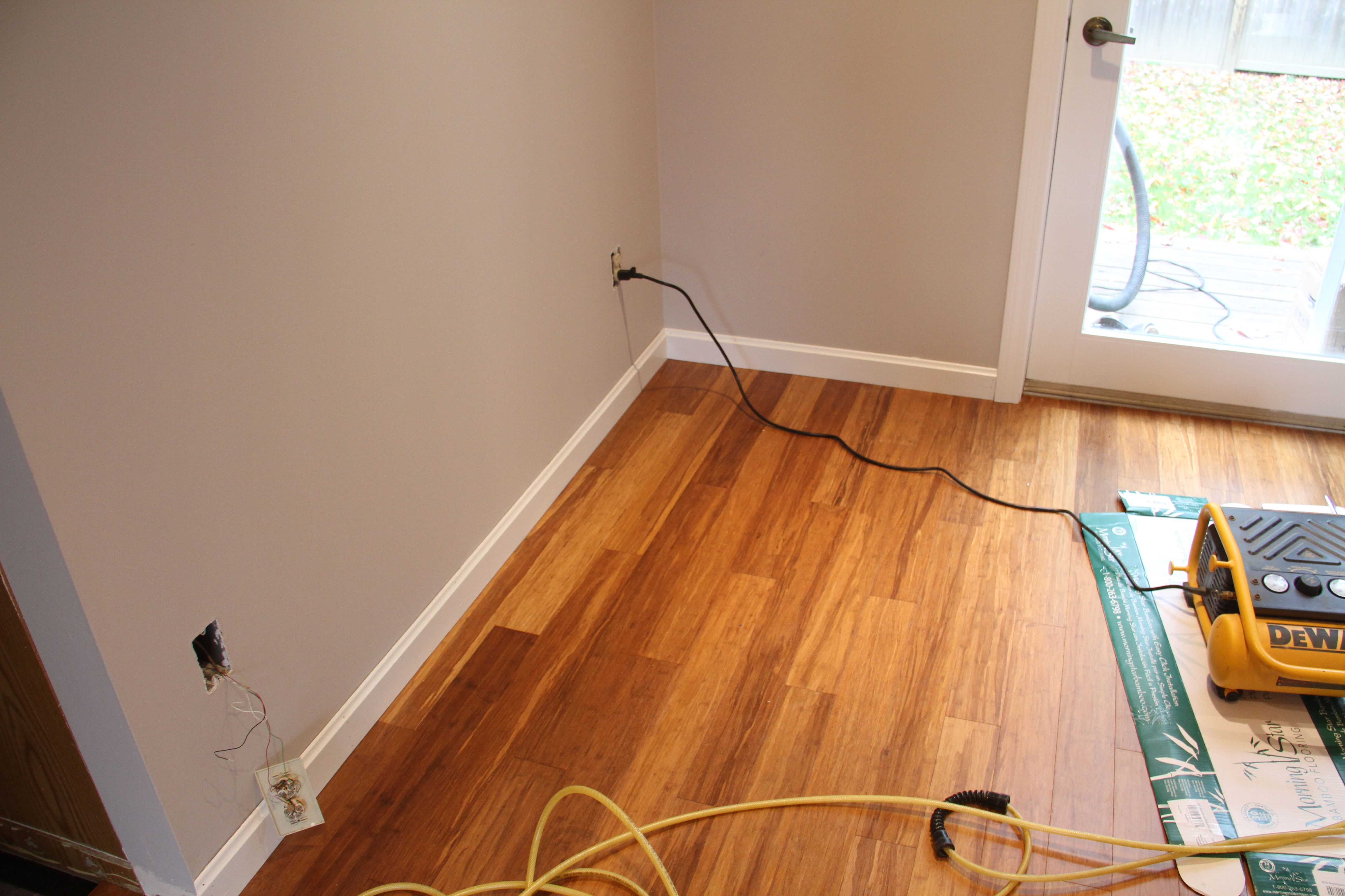 Baseboards! Just trimming out the flooring, plus the lighting and the paint choices... well, it was divine.