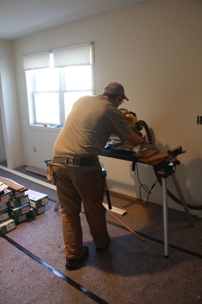 Dave's cut station moved upstairs to save them from having to run up and down, up and down all day long. They're smart.