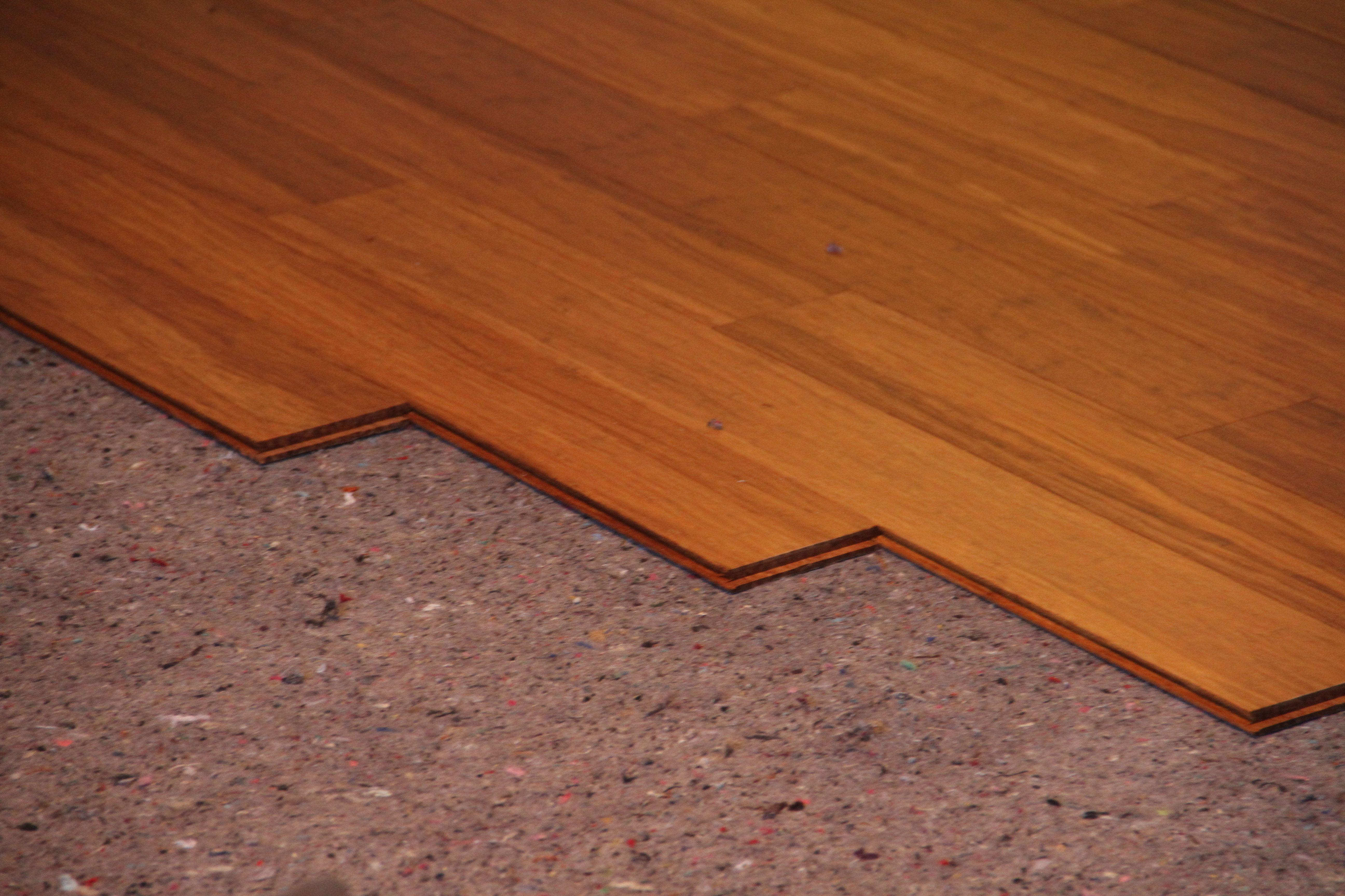 Beauty shot: bamboo flooring.