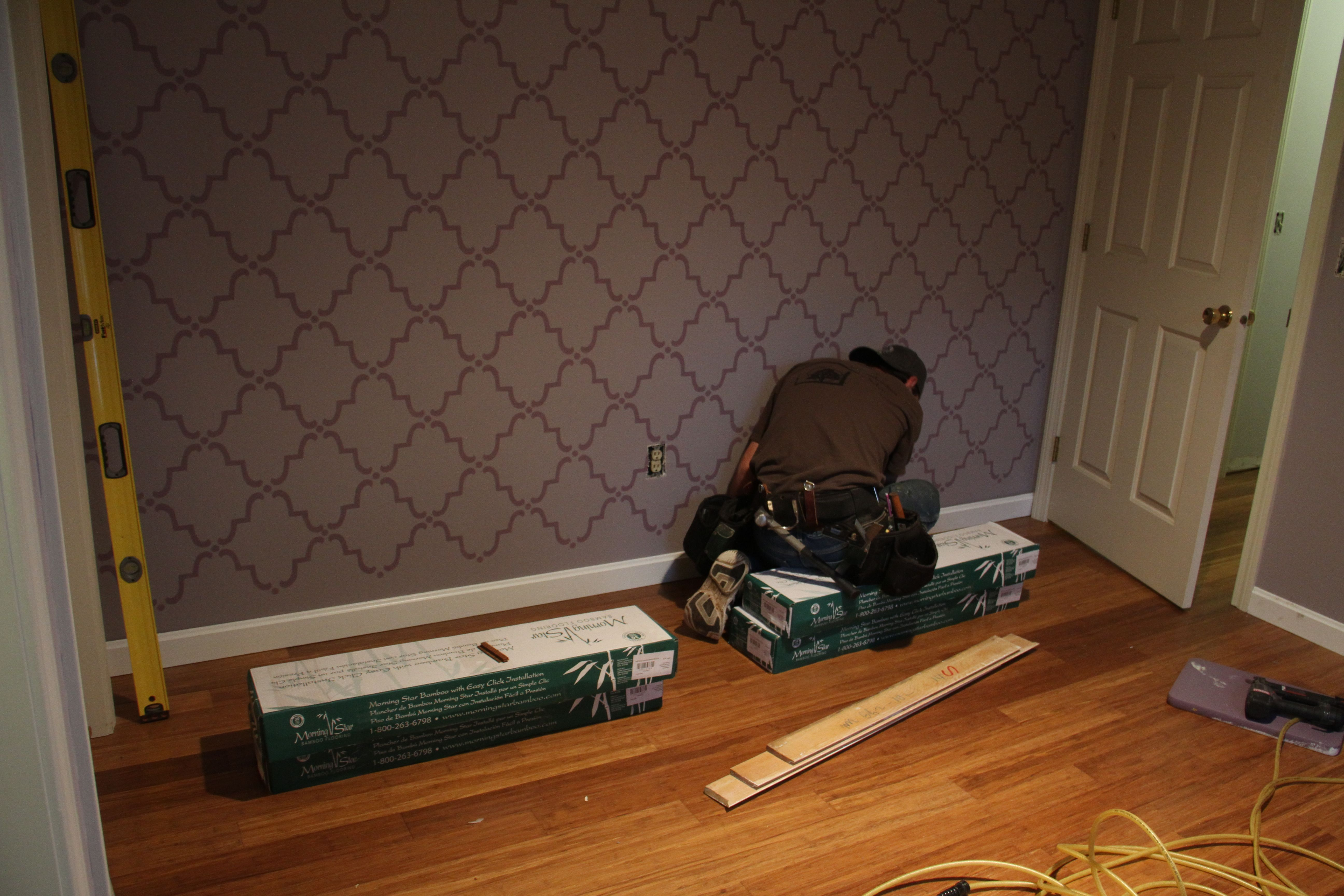 And Jonas finished up any bits of baseboard that needed reinstalling.