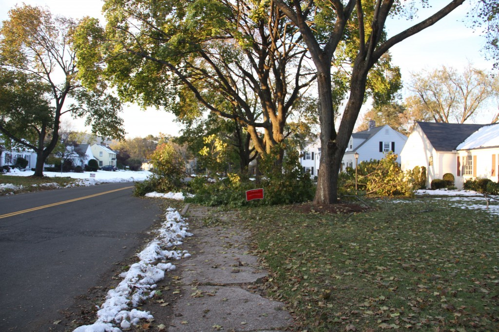 Impassable sidewalks can still be found nearly a week later.