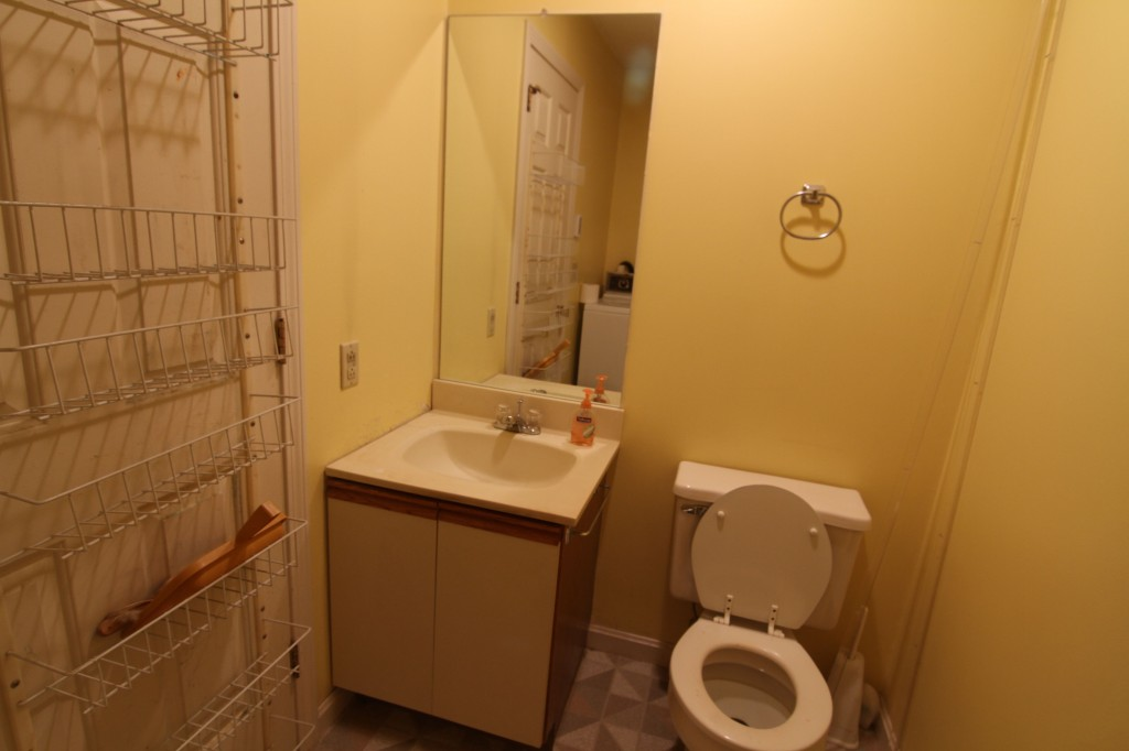 BEFORE: Laundry room/powder room. Yeeaahhh, no.