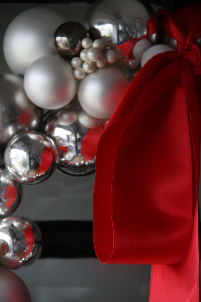 Up close and personal. Red, silver, pewter, white, ivory... winter, glamour and sizzle.