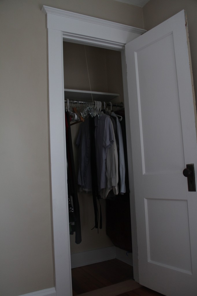 AFTER: Look! Clothes, IN the closet!