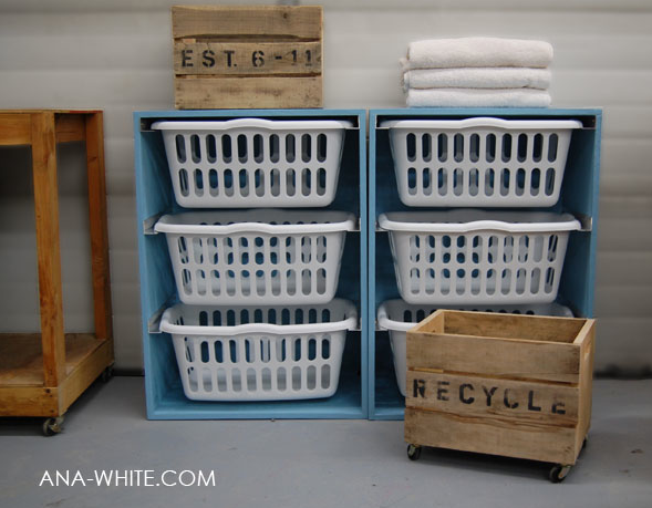 Inspired by this, and other, laundry solutions found on image searches we embarked on making our own riff on this clever solution.