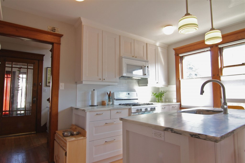 AFTER: A clean, bright, welcoming kitchen that works as well as it looks.