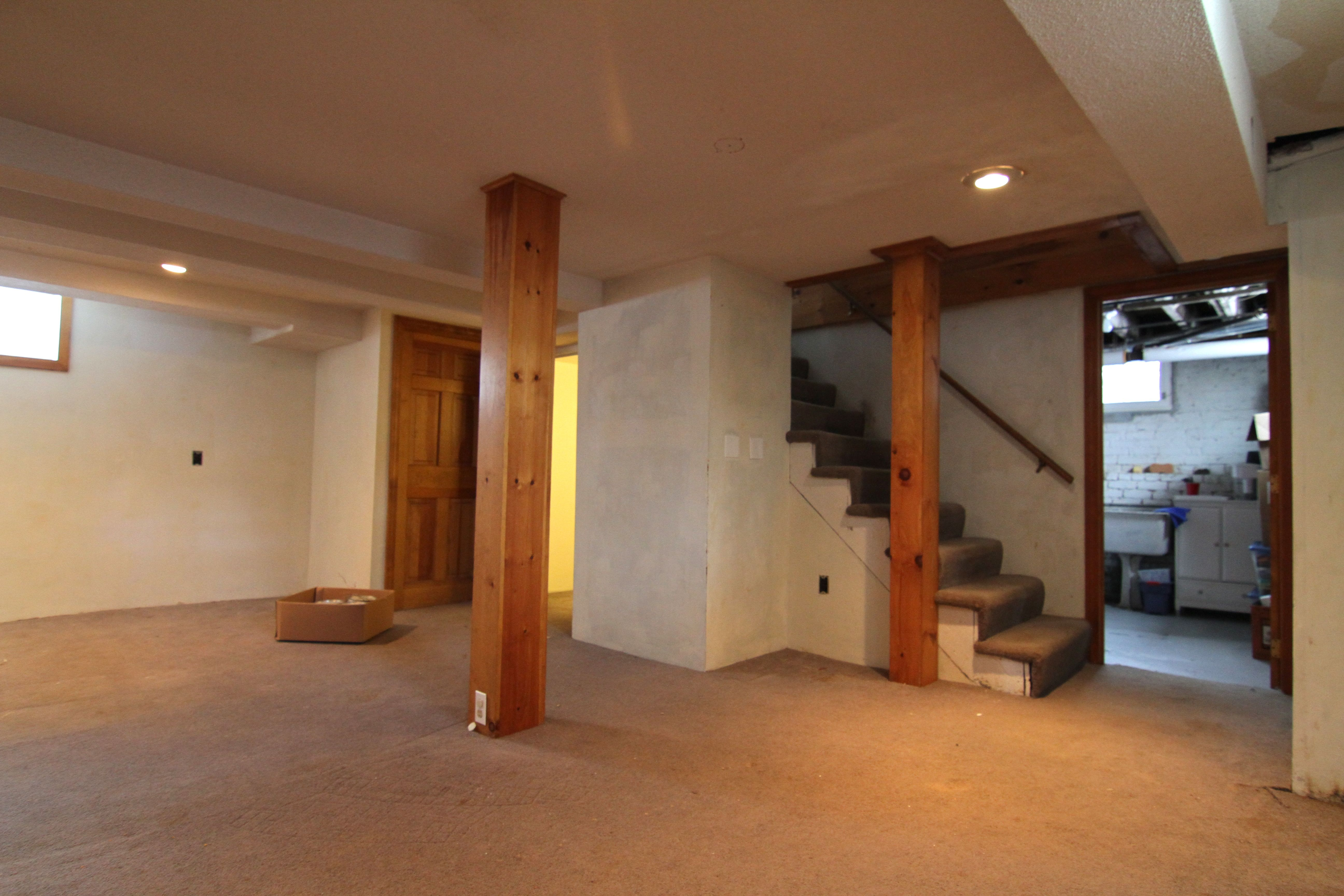 BEFORE: The stairs were wrapped 80s-style with carpet, the pine nearly au naturel, the rest, well, you get the idea.