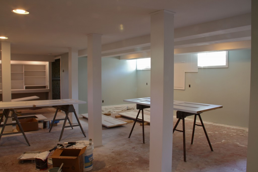 DURING: Ok, allow me to back-track. Painting had to be done on all surfaces: walls, doors, trim, posts, access panels. It was truly a labor of love.