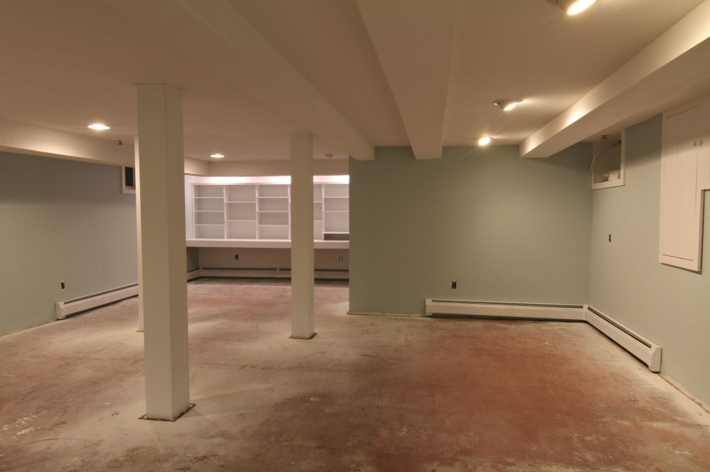 DURING: Even with the painted concrete floor, the space was beginning to settle into someplace delightful.