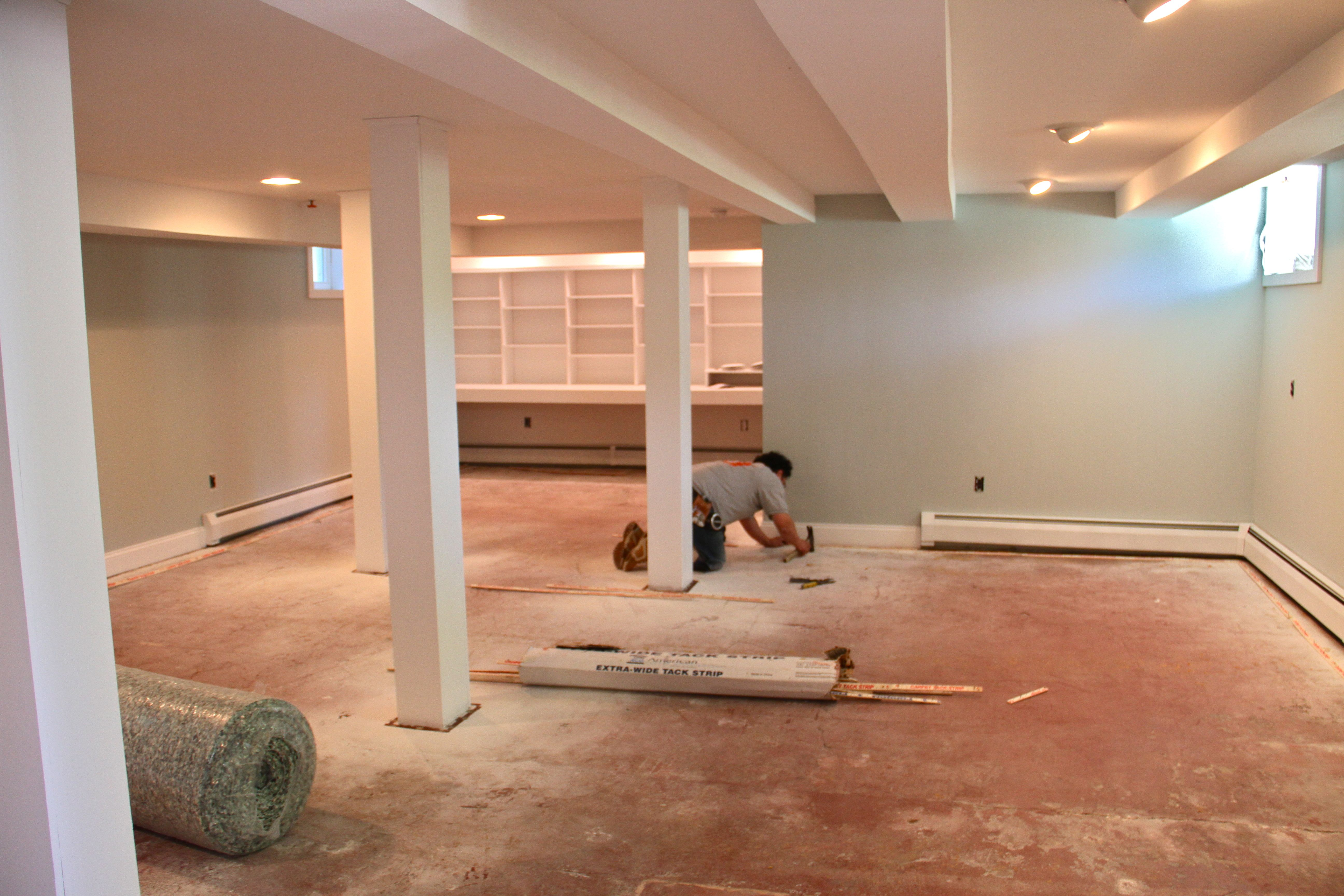 DURING: Believe it or not, this space is about 800 square feet.