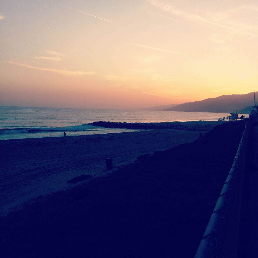 We ran along the beach in Santa Monica. The beach air, sand and sunset were just what the doctor ordered.