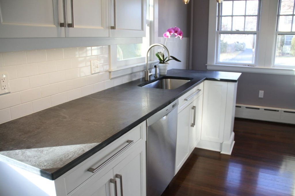 Countertops: Ashfield stone, quarried from Ashfield, MA. Keeping it local, y'all.