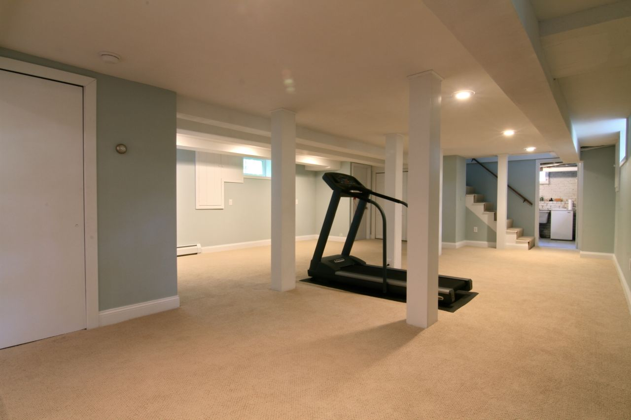 Basement. New windows, low VOC carpet and pad, and new low VOC paint ready for your media room, play room, or bonus space ideas.