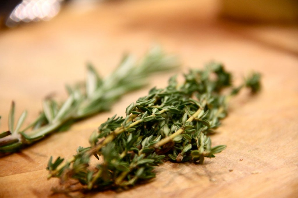 Fresh herbs - rosemary and thyme - are essentials in my fall kitchen. Thyme is a year-rounder, but there's something quintessentially cold-weather-y about rosemary.