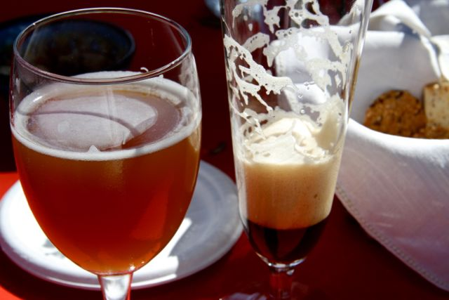 By the time the wedding rolled around, the weather lifted, and sunshine poured over us for days. The bride and groom made six varieties of home brews: featured here are the pale ale and the porter. They were all amazing. I was impressed and grateful.
