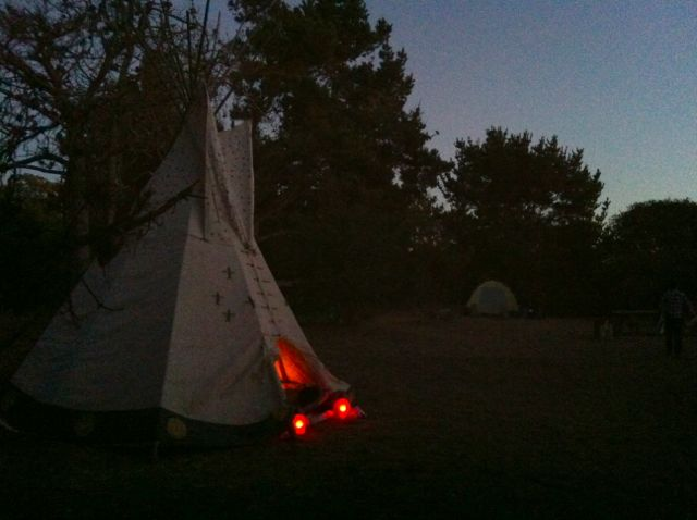 Pardon the graininess, but I only snapped a few dusk-lit phone pictures of the wedding tee pee. Romantic, rustic, earthy, and simple. Sort of like the day, and the couple.