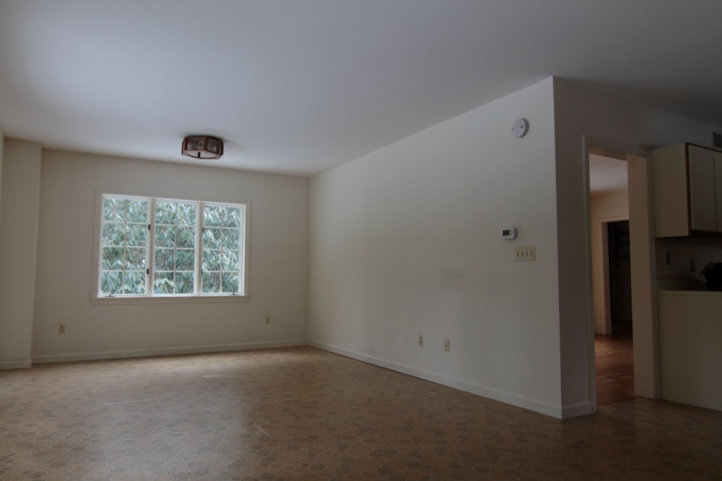 BEFORE: The family room, while not as open as I'd like (budget prevails every time) will be a cozy and comfy space for family movie night.