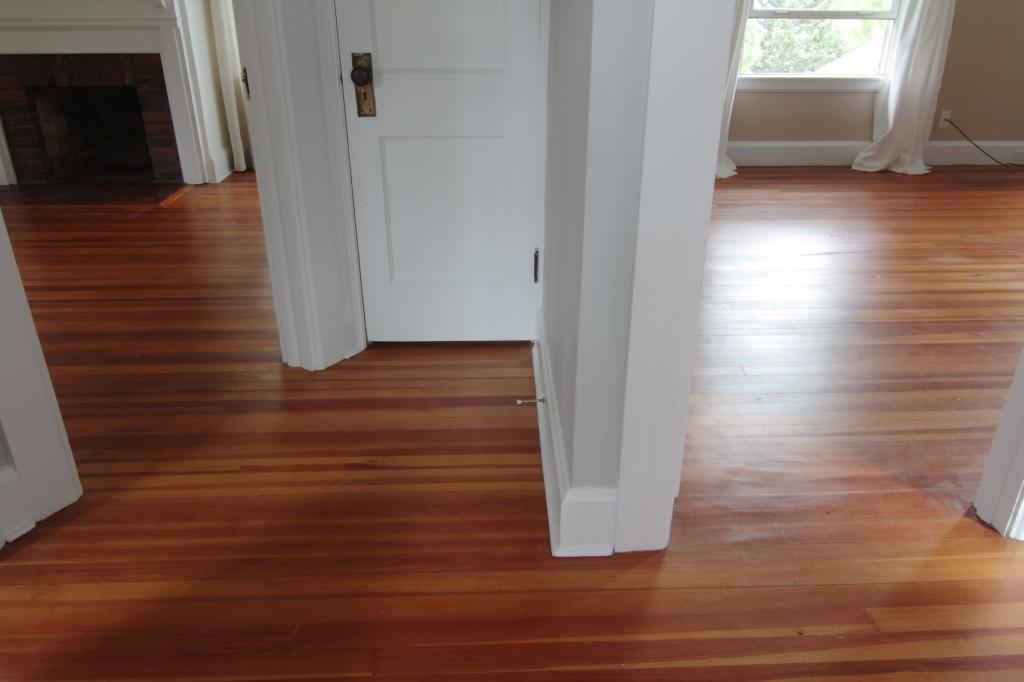 Last look: hallway. Good bye original pine floors. Good bye strange, but amazing layout of doors and entry points.