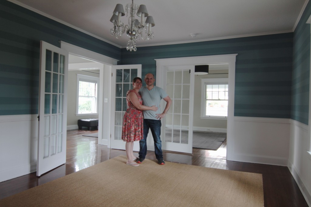 AFTER: Last look: Us, June 2013. Good bye house that was my home. I will never forget you, and I will forever be grateful to have stewarded you as long as I did. xoxo