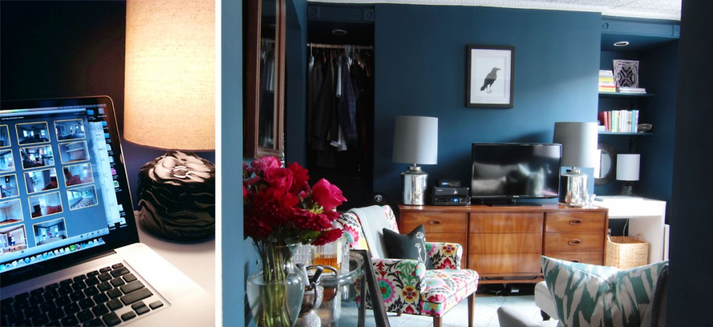 We utilized the space as best we could: closet closer to the bedroom; office closer to the natural light.