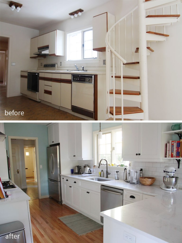 BEFORE: Dated is a kind way of putting what this kitchen looked like. AFTER: Better space planning really took this kitchen into a new world.