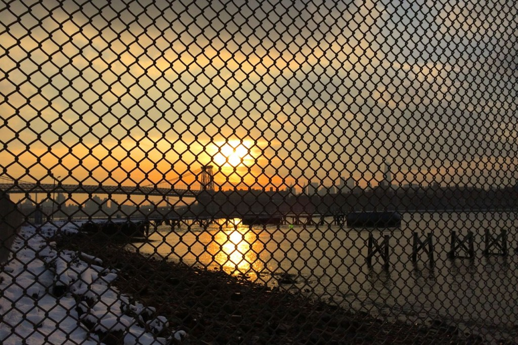 Winter this year left me feeling trapped in a cage, not unlike how you will feel looking at this sunset picture.
